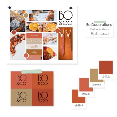 Bo & Co Branding - moodbord